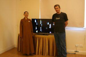 Andrew Netherwood with Venerable Juewei