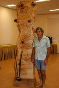 Noel Butler - Nudawang elder with sculpture