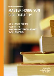 MasterHsingYun Bibliography cover